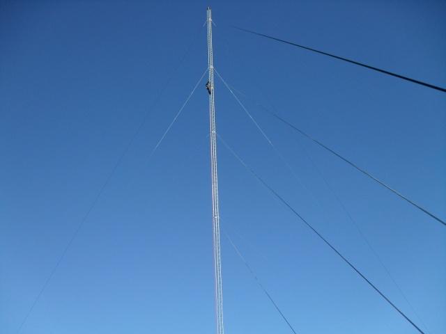 Radio Engineer ajusting antenna bays